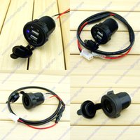 Wholesale Power Outlet Socket A Dual USB Phone Charger Car RV Motorcycle Truck Vehicle