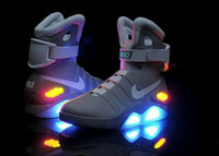easter led lights - NIKE AIR MAG Shoes LED light Shoes Mens Cheap best Basketball Shoes Mens running Shoes Luxury Grey