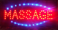 Wholesale Flashing Massage LED Window Display Sign Size Inch Indoor Hanging Chain of LED Busingess