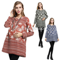 Wholesale National Style Women Loose Flower Print Autumn Cotton Casual Dresses O Neck Long Sleeve Dress For Pregnant Maternity YT1009