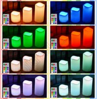 Wholesale 100PCS HHA670 Hot Sell Changing Color LED Electronic Flameless Smokeless Candle Light Remote Control Candle
