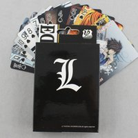 baseball note cards - 54 pack Death Note Cartoon Collection Latest picture Coated Paper Playing Cards Anime Game Cards Poker Cards