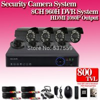 Wholesale CCTV System CH CCTV DVR System with H HD CMOS TVL IR CUT Cameras Security System CH DVR Kit includes all cables in