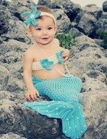 Wholesale Infant Girl Newborn Baby Girl Knit Crochet Mermaid Costume baby Mermaid dress Infant Mermaid costume Christmas gift