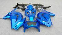 Wholesale Motorcycle Fairing set for KAWASAKI Ninja ZX250R ZX R EX250 blue Fairings set KH105