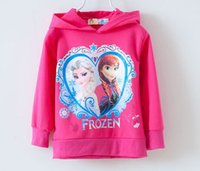 hooded sweat jackets - frozen children long sleeve hooded fleece jacket Female children s clothing Top Fashion Cartoon Frozen Princess Elsa Anna Kids Hooded Sweat