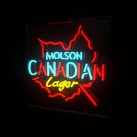 beer signs canada - MOLSON CANADA LAGER NEON LIGHT SIGN HANDICRAFT BEER BAR PUB REAL GLASS TUBE GAMEROOM x14 quot