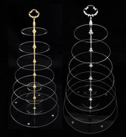 Wholesale 7 Tier Clear Acrylic Circles Wedding Cake Stands Hardware Party Cupcake Stand Free Fedex