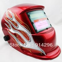 Wholesale Red Tornado ANSI CE Solar Auto Darkening Welding Grinding Helmet