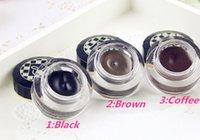 alpha gel pencil - colours Love Alpha Waterproof Eyeliner Gel to Eye Cosmetic Tools with Liquid Eyeliner Pencil Brush Makeup