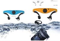Cheap Waterproof Bluetooth Earphone Headsets Stereo 4.0 Headphones Headbands handsfree for phone MP3 ipad Swimming Surfing SPA IPX8 WMP8 Headsets