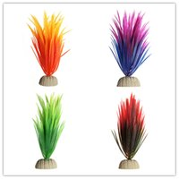 Wholesale New Arttifial Fish Tank Decoration Grass Color Fake Aquarium Plant For Aquatic Ornaments Supplies in Micro Garden