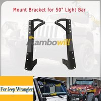 jeep wrangler - Pair Upper Windshield A Pillar Mounts Mounting Roof Bracket Fit inch Led Light Bar Fit For Jeep Wrangler JK Vehicle Auto