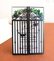 art deco buckles - Rustic Gate fold Laser Cut Wedding Cards Art Deco Castle Gate Series Love Bird Gate Fold