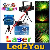 Wholesale 150mW Mini Red Green Voice activated Moving Party Stage Laser Light Projector with tripod DJ party disco light