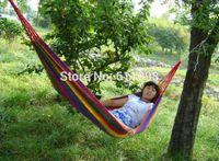 Cheap Wholesale Super big size 280x80cm camping hammock swing outdoor thickening canvas hammock casual single double bearingmn2