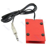 Wholesale Acrylic Tattoo Machine Footswitch Power Supply Foot Pedal Controller Red order lt no track