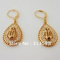 allah great - MIN ORDER K YELLOW GOLD GP SOLID OVERLAY FILL BRASS MUSLIM ALLAH GOD mm quot EARRING GREAT GIFT