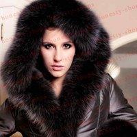 plus size dropship - New Arrival womens fox fur down coat women s fur coat ultralarge thickening plus size hood luxury down coat jacket Dropship