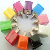 apple portable power adapter - Colorful Portable USB Home Power Adapter US Plug Wall Charger for Samsung Galaxy S3 S4 HTC
