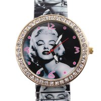 Wholesale 2015 high grade Korean foreign trade fashion Marilyn Monroe elastic contraction strip Diamond Dial GENEVA