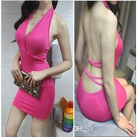 low price dresses - Fast Delivery Popular sexy dresses Black Halter Sexy Mini Dress Low Price Clubwear WY246
