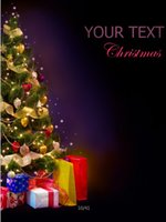 Wholesale 200cm cm ft ft photo background christmas Christmas tree gift dark night vinyl Photography Backdrops