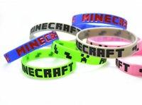Wholesale 5 styles cartoon Creeper Souvenir wristband Minecraft bracelet Minecraft cuff Minecraft accessories Rubber Bracelet children kids gift