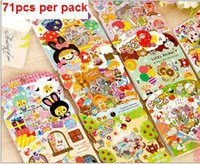 Wholesale 71pcs pack Japan fairy tale series Gift seal flake sticker pack bag hot selling decoration packing stickers Kawaii label sticker