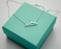 american range - 10PCS N015 Cute Snowy Mountain Top Range Necklaces Simple Modern Minimalist Necklace Nature Paris Landscape Necklace for Women