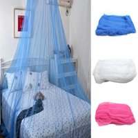 Wholesale 1Pc Solid Color Eleghant Round Top Insect Bed Canopy Netting Curtain Dome Mosquito Net