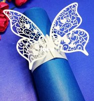 Cheap Buttefly Bow Covers With Velcro Closure Napkin Rings Wedding Favor wedding Chair Sashes Bows