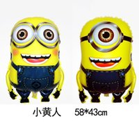 Wholesale Cartoon Despicable Me Minions Helium Balloons Foil Aluminium Coating cm Balloon Toys For Kids Boy Birthday Party Decorations