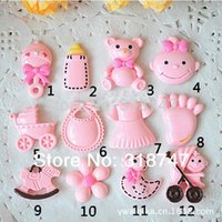 baby mobile accessories - 12pcs Mix size Cute Baby Series Resin Diy Mobile Phone Accessories