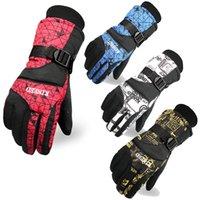 Wholesale KINEED Winter Warm Cycling Gloves men women Head Ski Gloves waterproof bike snowboard Below Zero skiing Gloves Windstopper out