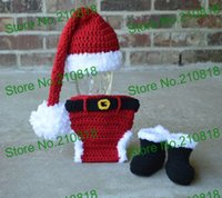 babys photos - Crochet Santa Hat Diaper cover boots set babys christmas outfit newborn to months photo prop