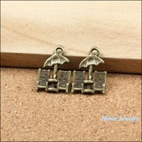 beach chair charm - Vintage Charms Beach chairs Pendant Antique bronze Fit Bracelets Necklace DIY Metal Jewelry Making metal love charm