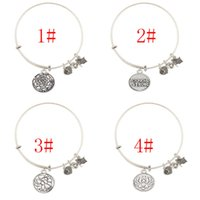 Wholesale Alex and Ani Love Expandable adjustable Wire Letter bracelets bangles Good Luck as gift for men women