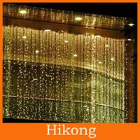 Wholesale 300 LED M M Curtain String Lights Garden Lamps Xmas Christmas Icicle Lights Xmas Wedding Party Decorations