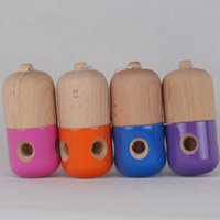 Wholesale Hole Pill Kendama Toy Japanese Traditional Wood Game Kids Toy x5CM PU Coatting Beech
