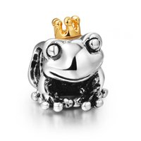 Wholesale 2015 Brand Fashion Frog Prince Style Sterling Silver European Bead Charm For DIY Snake pandora Bracelet Bangle Jewelry 1