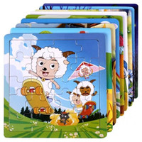 Wholesale Wooden Jigsaw Toys for Develop Children Intelligence Learning and Educational toys baby gifts games Puzzles Muti color