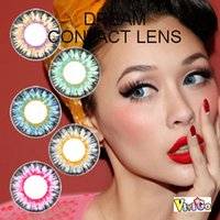 Wholesale kawaii colorful soft contact lens tone YEARLY fresh DREAM color lenses mix colors