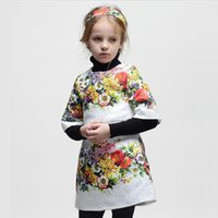 floral print dress - Best Sale Girls Middle Sleeve Fashion Floral Dresses Children s Spring Autumn Flower Printed Dresses Baby Cute Dresses Kids Dresses