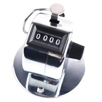 Wholesale 1pc Mini Tally Counter Hand Held Clicker Digits Metal Palm For Golf Car Train People Counting