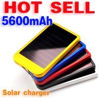 Cheap 1pcs Free shiping Solar Charger Power Bank 5600 mAh New Portable Charger Solar Battery External Battery Charger Powerbank
