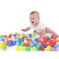 Wholesale 600 Bath Toy Baby Ball Pit Balls Plastic Ocean Ball Swim Pool Ball Toy Colorful Soft Plastic Kid Pit Safe Bath Toys