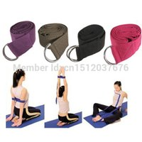 Cheap SALE! 180x3.5cm 6FT Yoga Stretching Strap Belts D-Ring Pilates Stretch Belt Leg Waist Fitness Exercise Gym Accessories