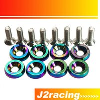 Wholesale J2 RACING STORE NEO CHROME HIGH QUALITY Fender Washers set washers and bolt For Honda Civic Integra RSX EK PQY FW21CR