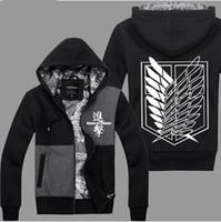 autum coats - Attack On Titan Scout Regiment Levi Cosplay Costume Autum Winter Sport Fashion Hoodies Sweatshirts Coat Anime